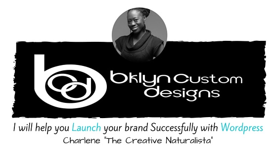 "Charlene ""The Creative Naturalista"" Bklyn Custom Designs Banner for BCD Client"